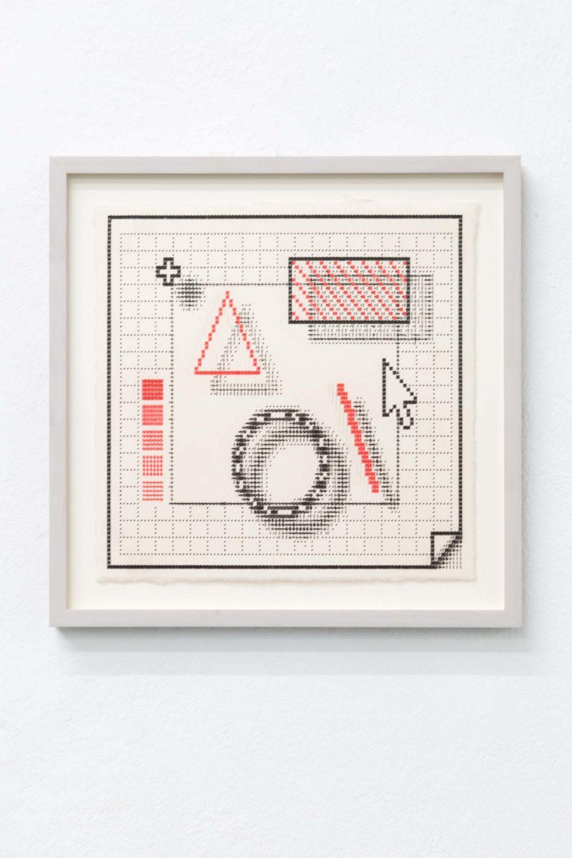 Arno Beck typewriter drawing