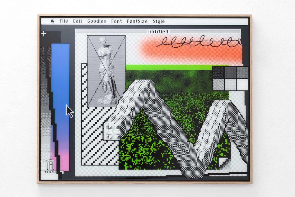 Arno Beck Silkprint on glas