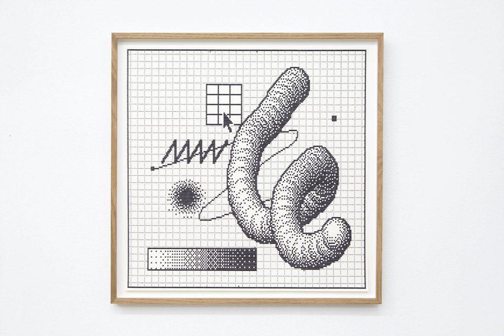 Arno Beck Typewriter drawing on paper