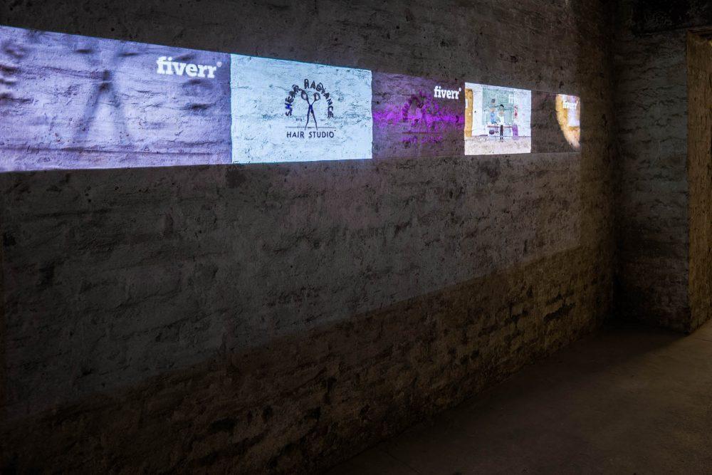 Sebastian Schmieg Videoinstallation Galerie ampersand Fivrr