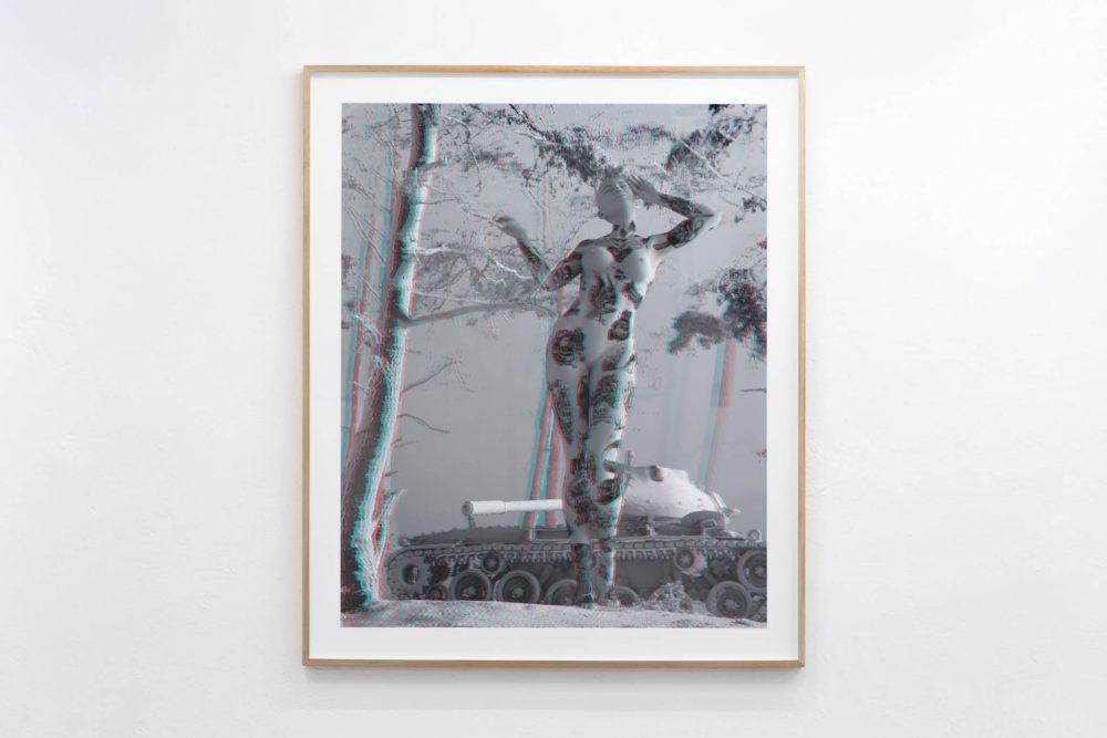Digital Painting from Tim Berresheim on white Wall